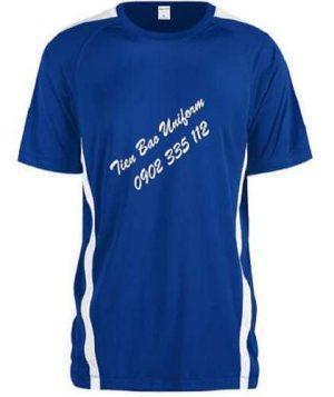 áo thun thể thao màu xanh