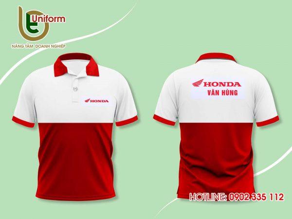 áo đồng phục công ty Honda đỏ