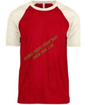 Áo Raglan phối đỏ tay trắng