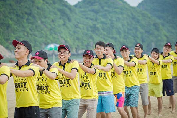 Đồng phục team building giúp tăng sự gắn kết giữa các thành viên