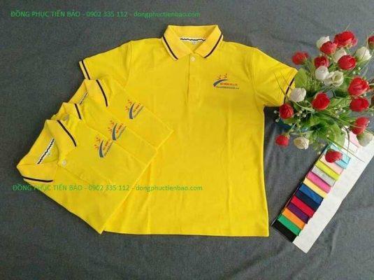 áo thun cá sấu màu vàng