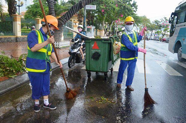 Đồng phục công nhân vệ sinh đường phố