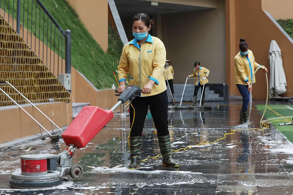 Đồng phục công nhân vệ sinh trường học