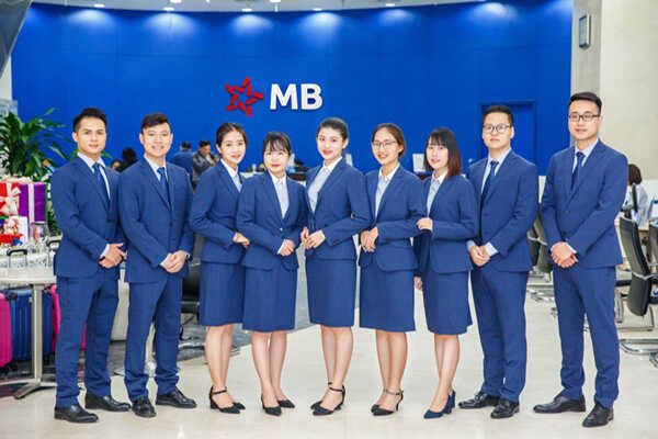 đồng phục văn phòng ngân hàng MB bank