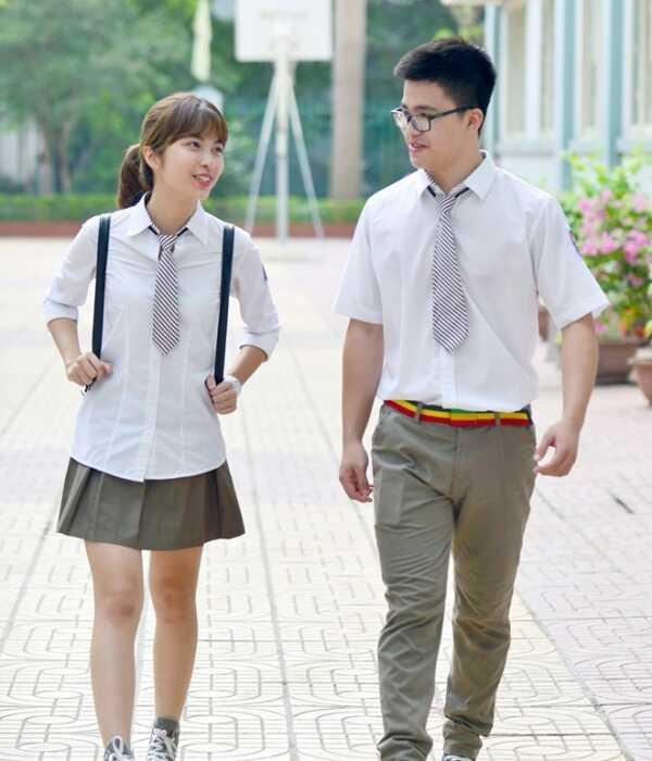 May đồng phục học sinh kiểu Trung Quốc