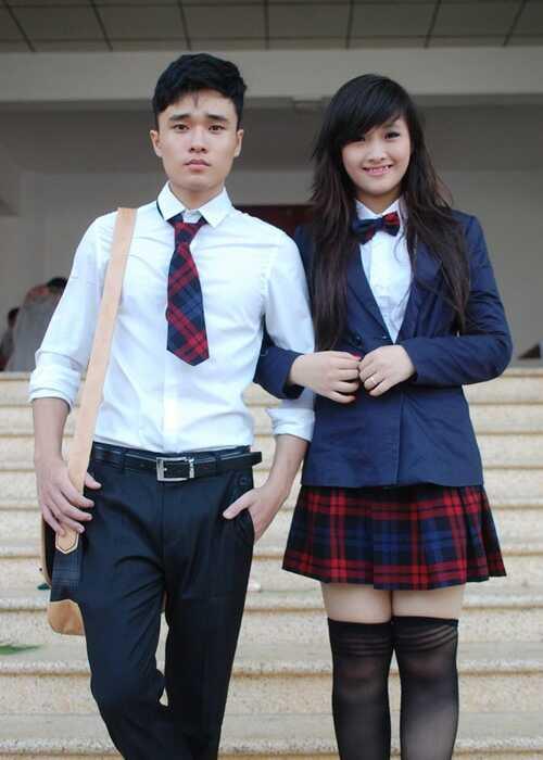 May đồng phục học sinh kiểu Hàn Quốc