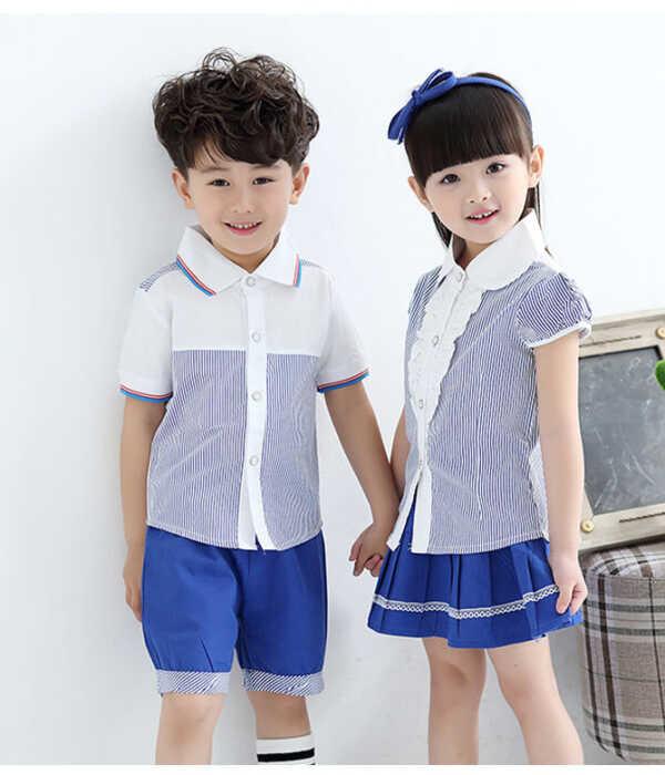 Đồng phục học sinh mầm non áo váy kẻ caro