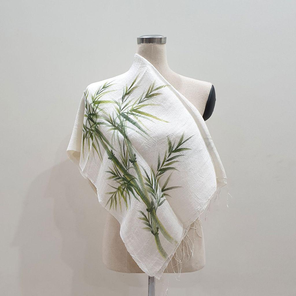 Khăn choàng vải lụa