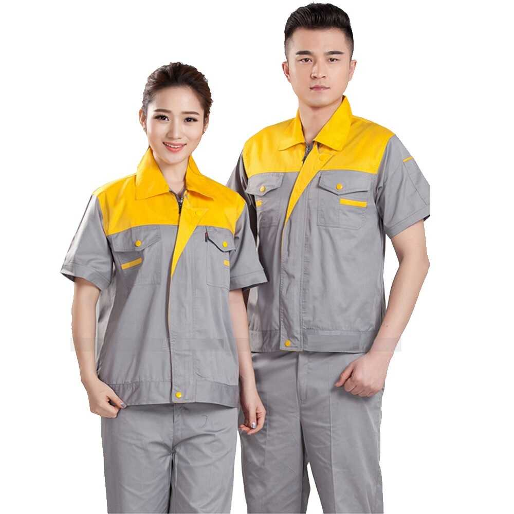 Đồng phục công nhân tay ngắn