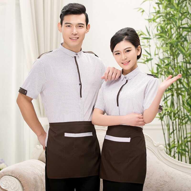 Tạp dề ngắn cột quanh eo cho nhân viên quán cà phê, nhà hàng