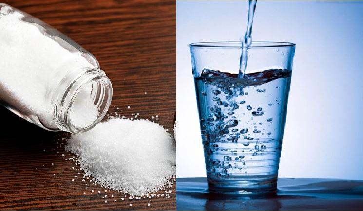 tẩy vết cafe bằng nước muối
