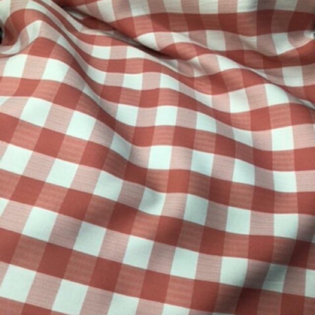 Vải kate sọc caro