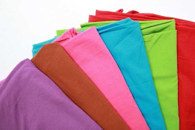 Vải thun trơn 65/35 may áo thun giá rẻ